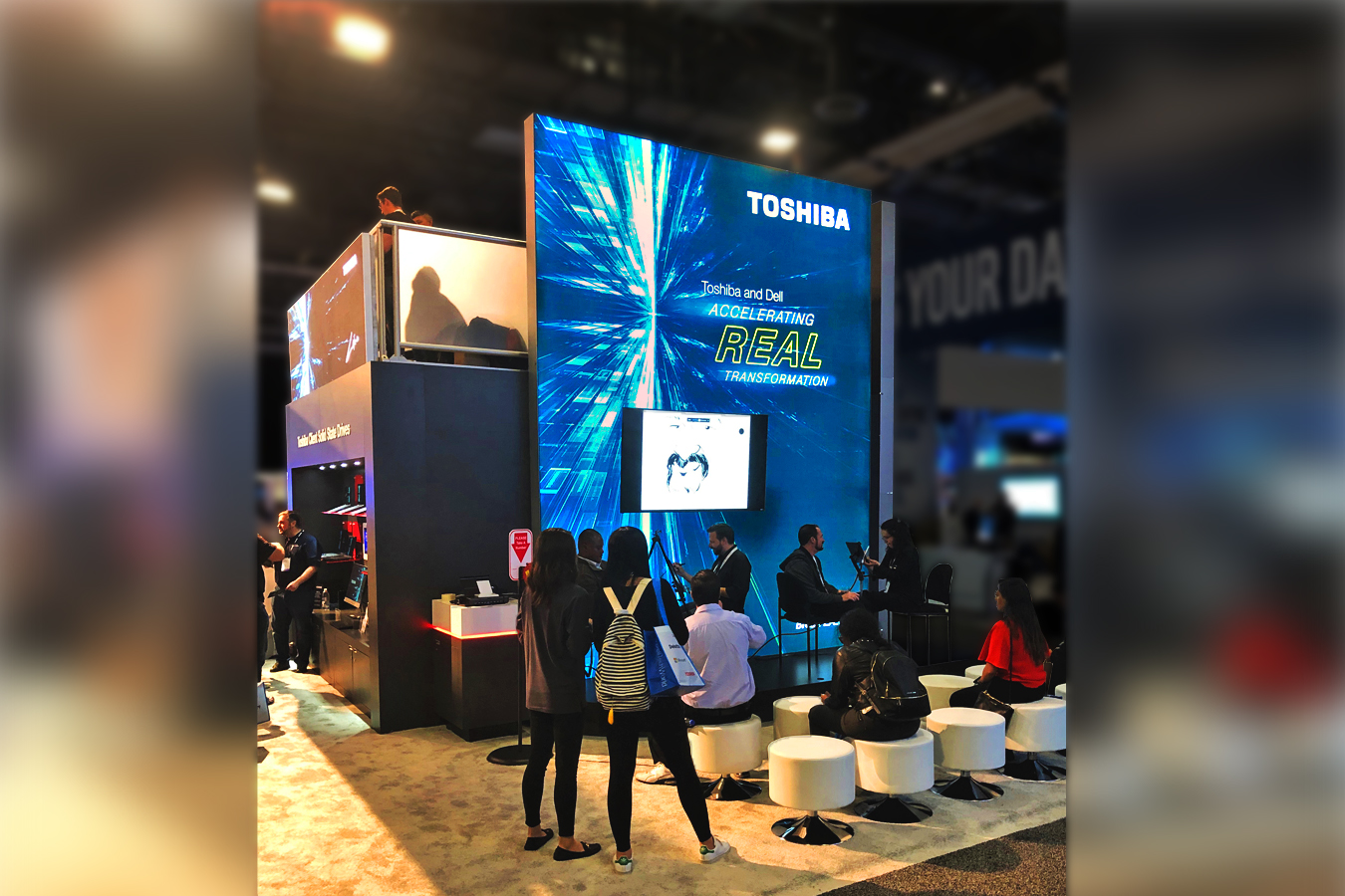 Toshiba MA 2-story booth with lightbox