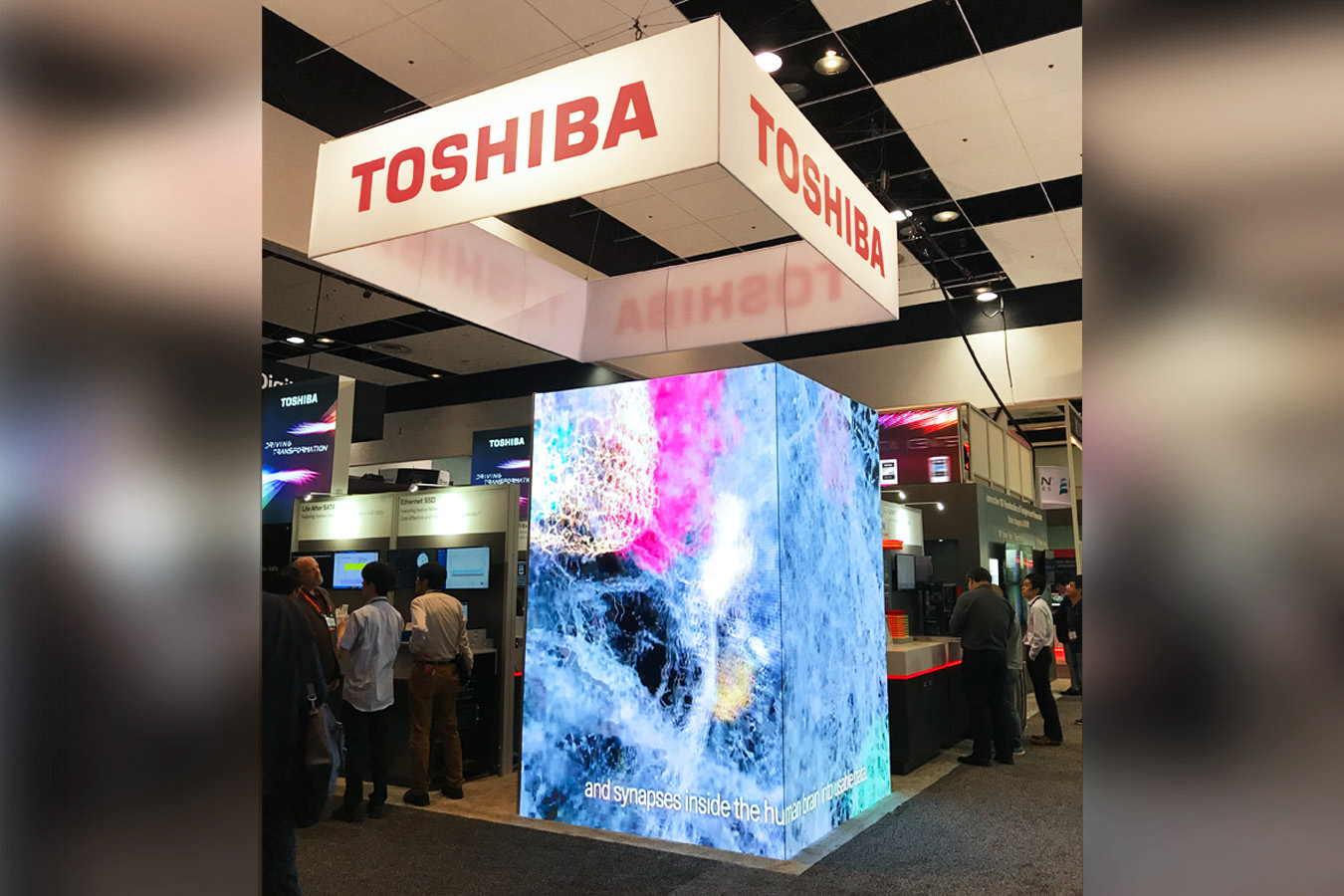 Toshiba MA  2-story booth with video tower